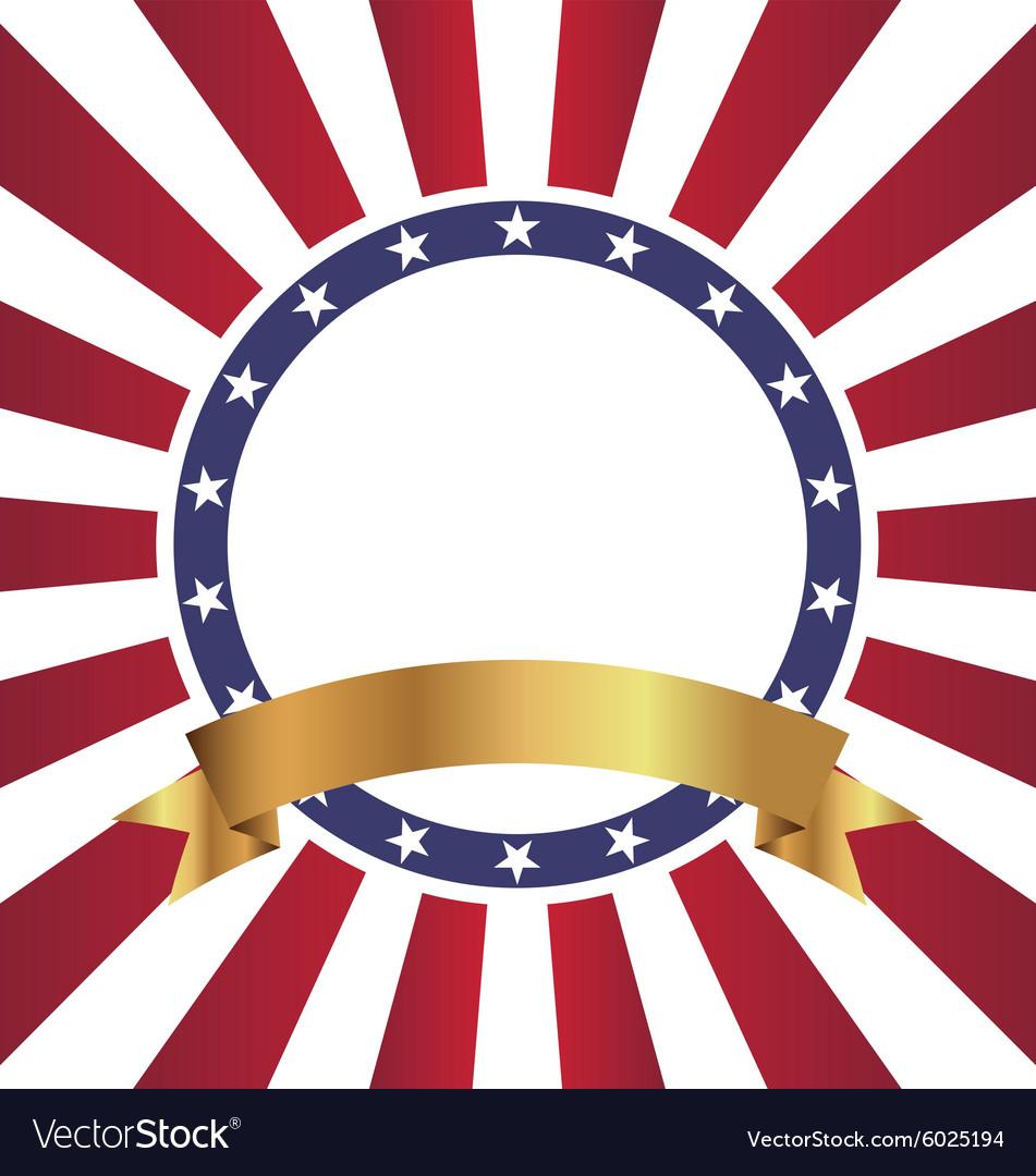 New Circle Shape American Sunburst Flag Background vector image