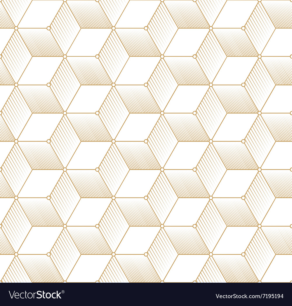 Retro Pattern with Golden Cubes