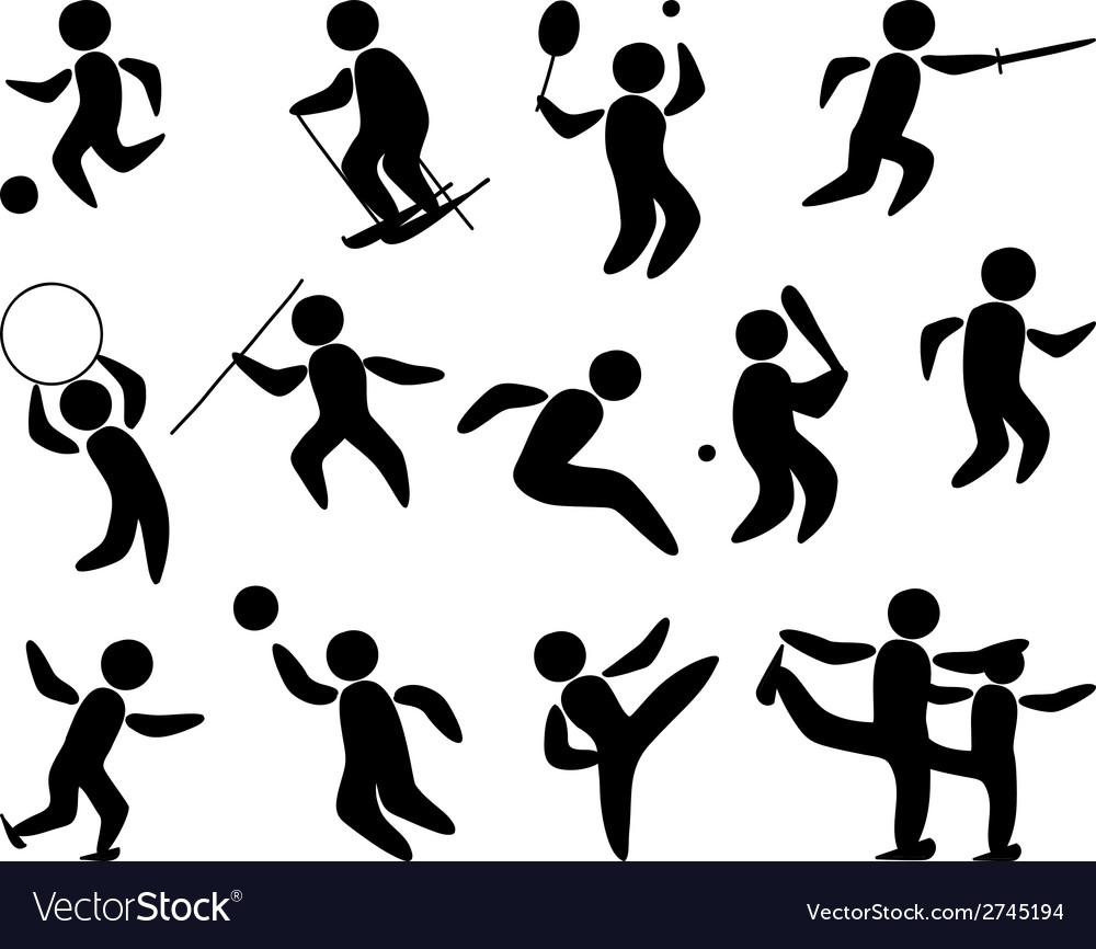 Sport People Silhouette vector image