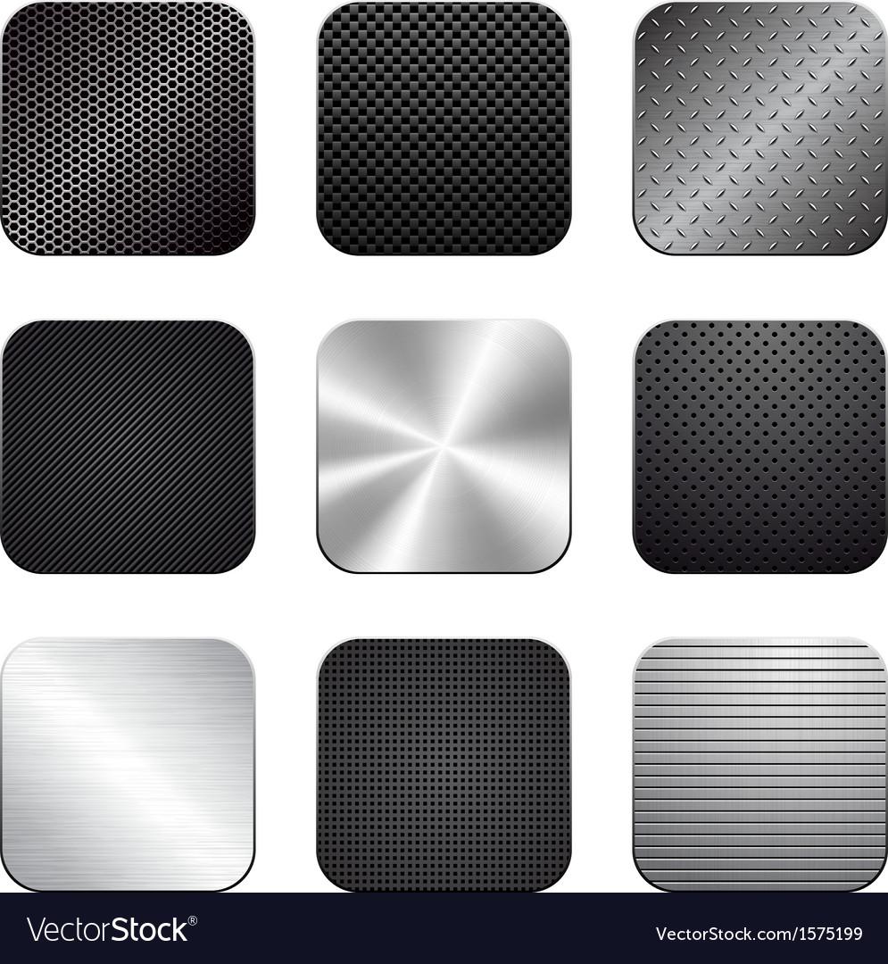 Apps metal-carbon icon set