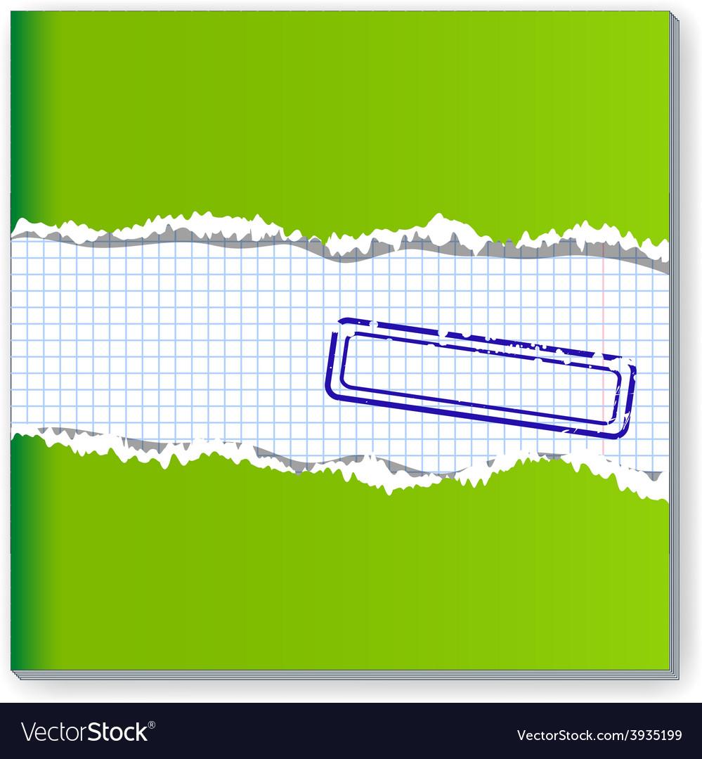 Damaged copybook vector image