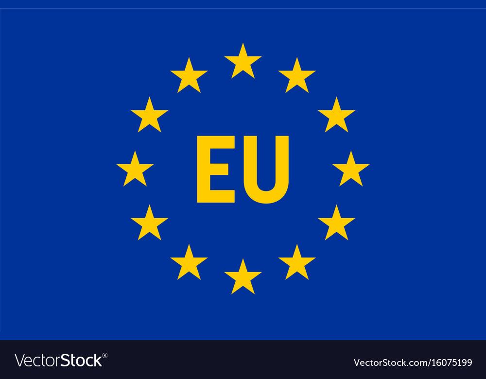 Flag of european union eu twelve gold stars on