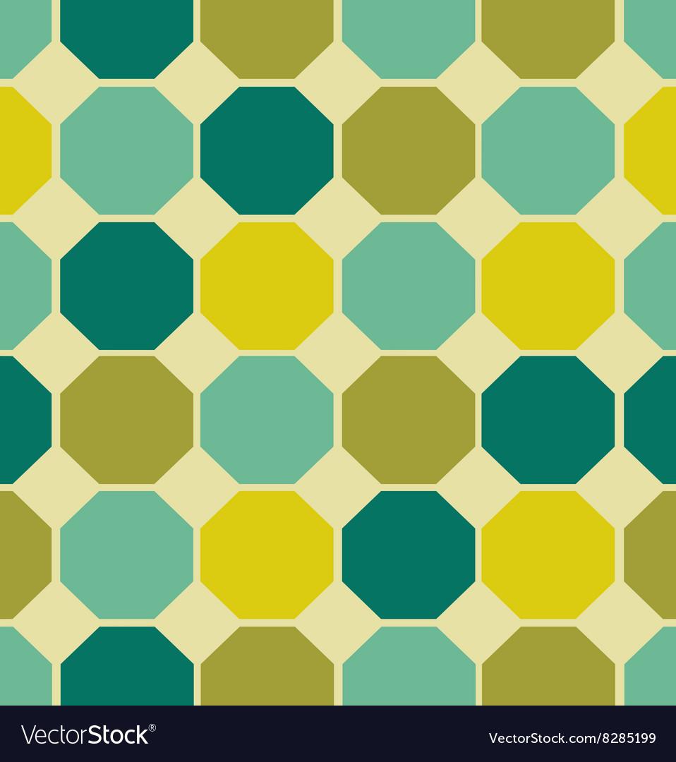 Geometric polygon seamless pattern