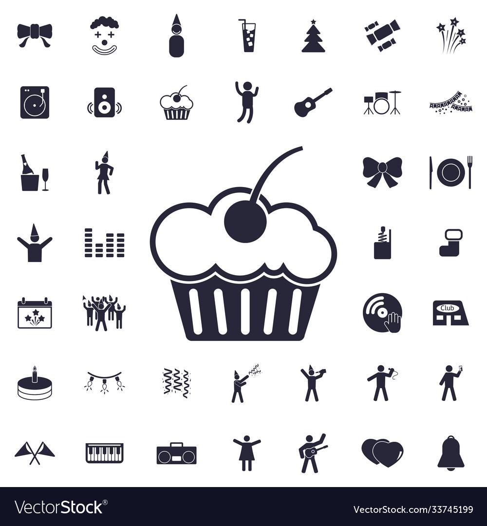 Muffin cake icon