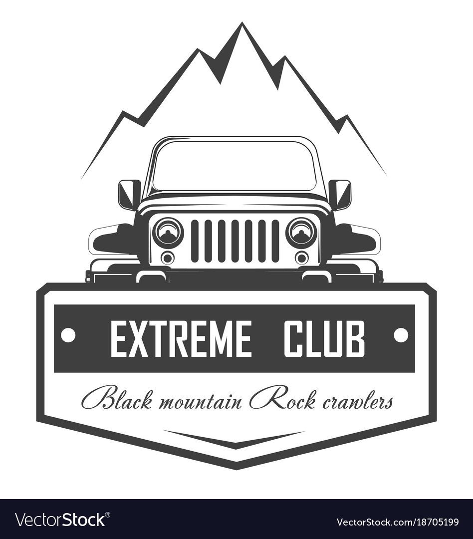 Off Road 4x4 Extreme Car Club Logo Template Vector Image