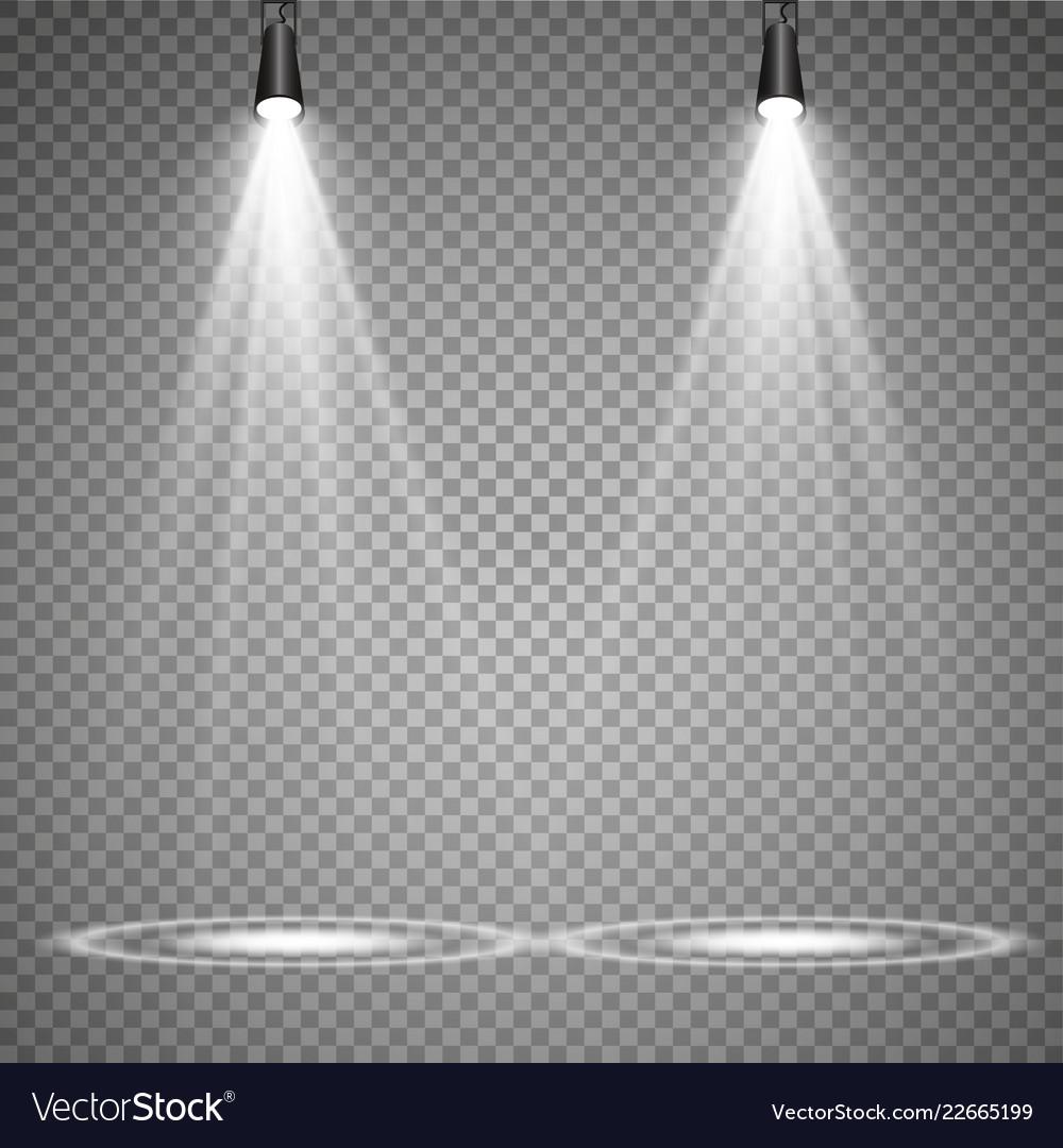 Spotlights scene light effects glow