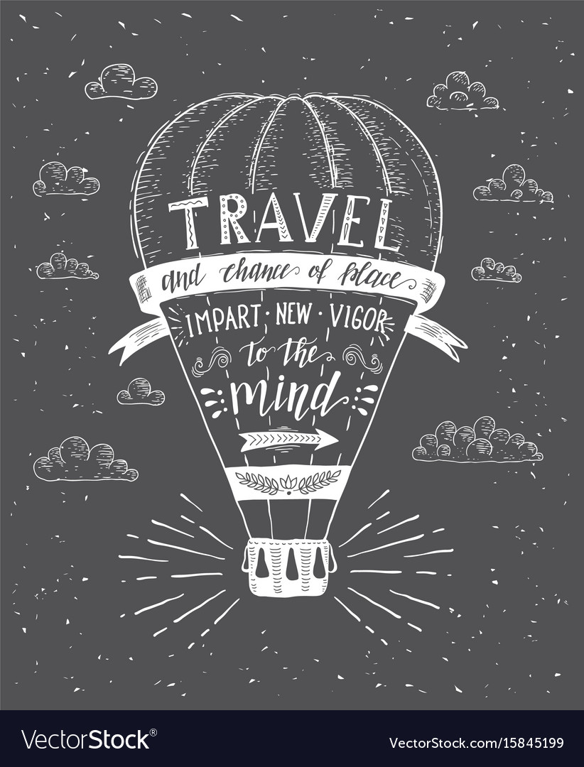 Travel of air balloon vector image
