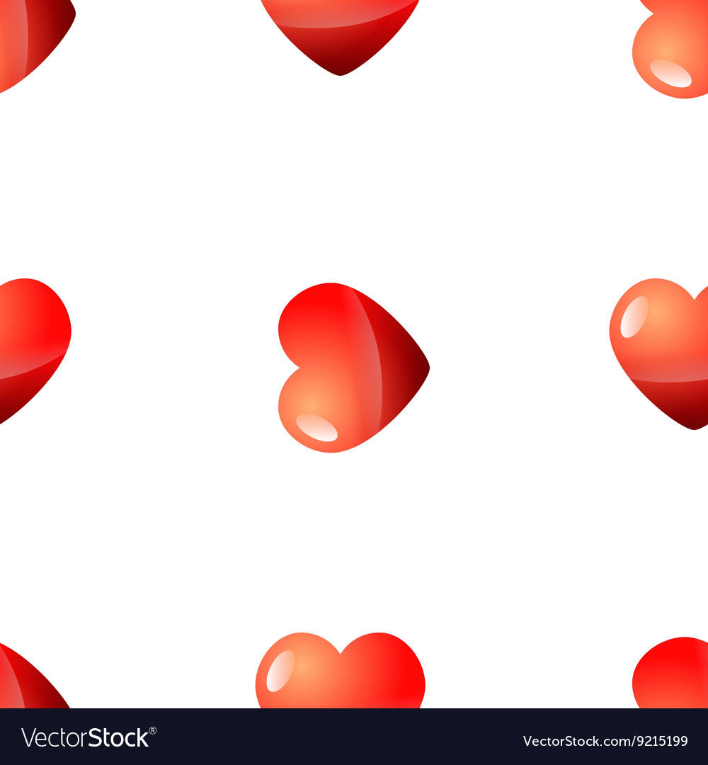 Valentine Day seamless red heart pattern