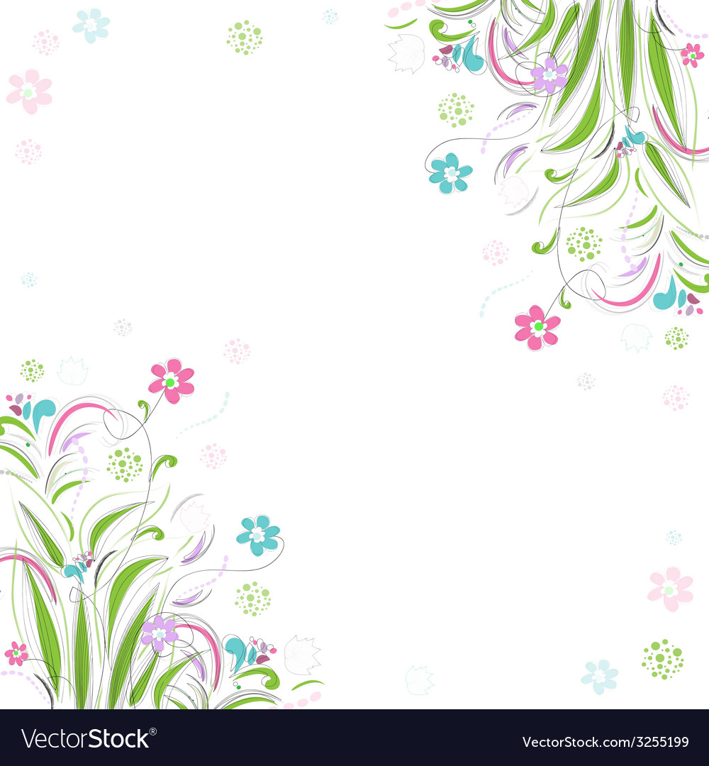 Vintage floral background Beautiful frame with