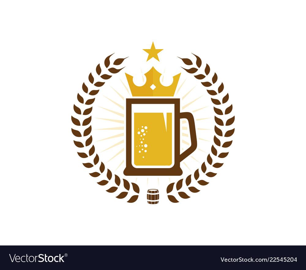 Crown beer logo icon design