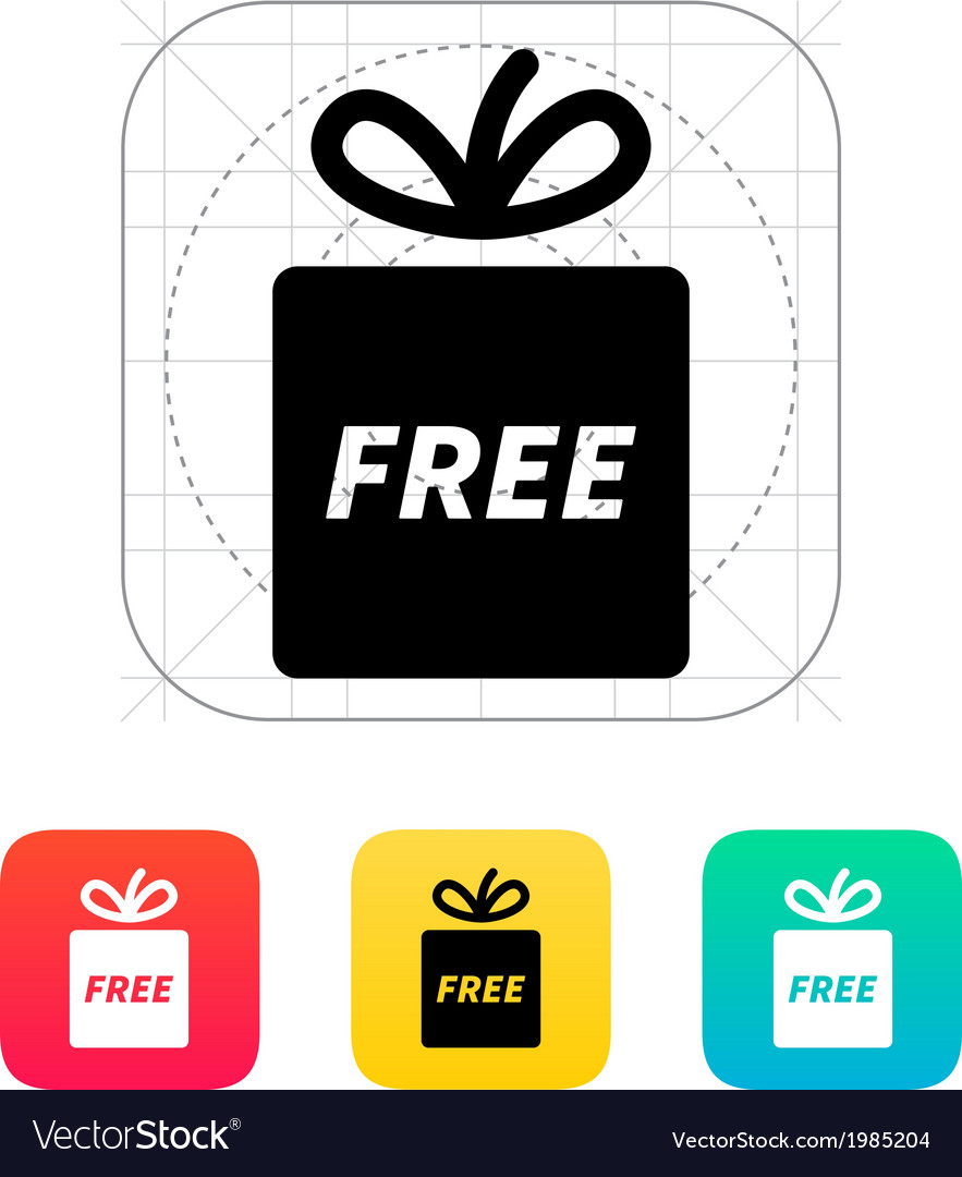 Free gift icon vector image