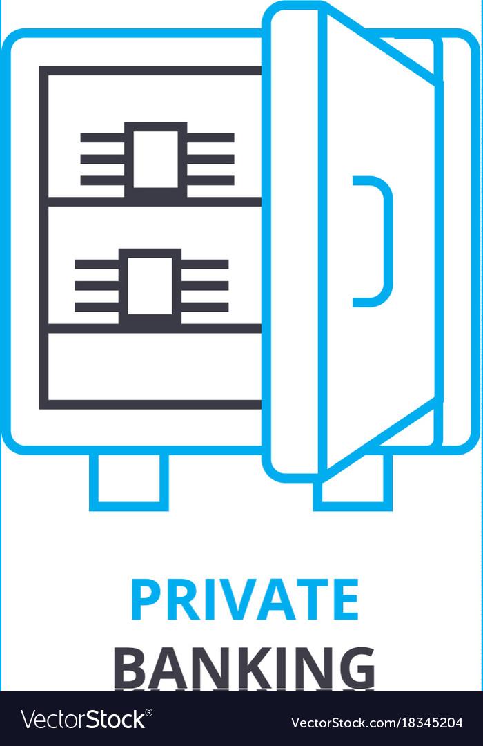 Private banking concept outline icon linea