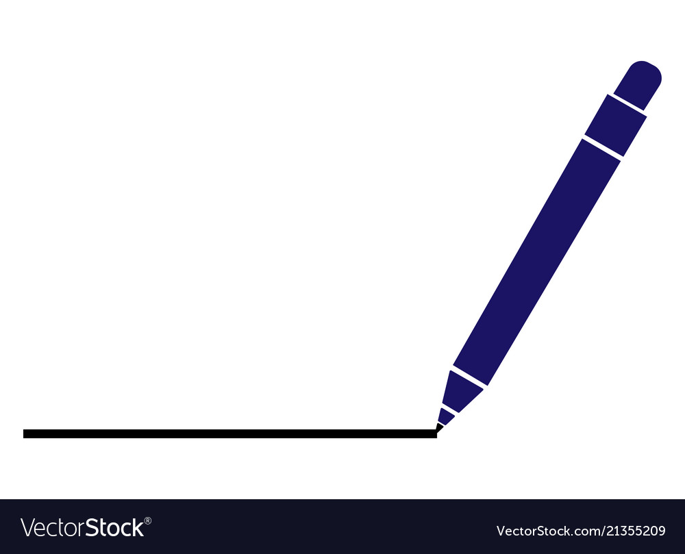 A pen drawing line