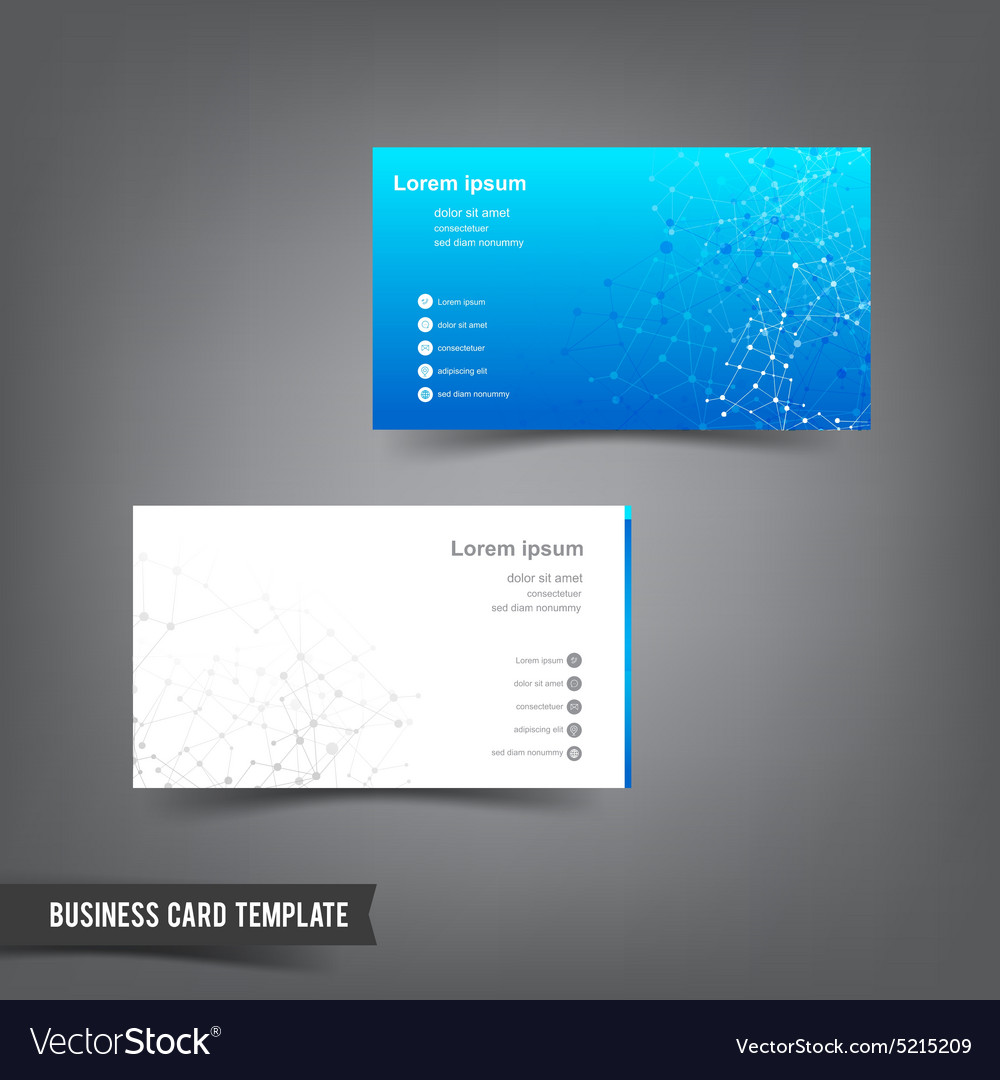 Business card template set 025 connection network vector image fbccfo Image collections