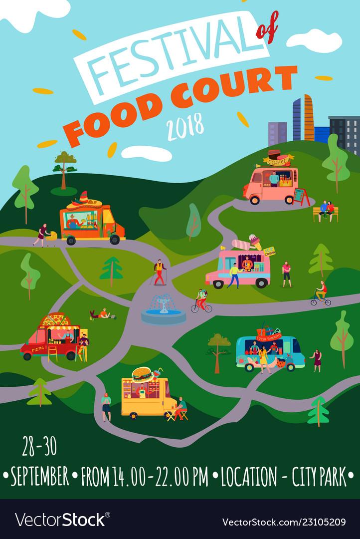 Food trucks poster