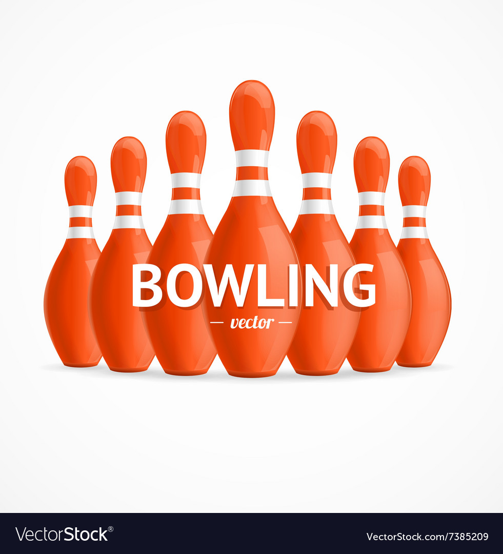 Group of Red Bowling Pins