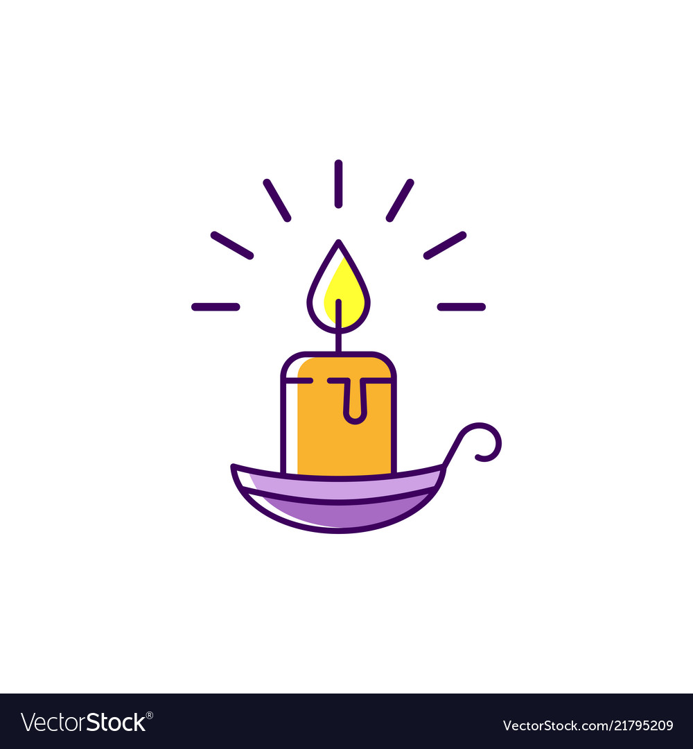 Halloween candle icon burning candle