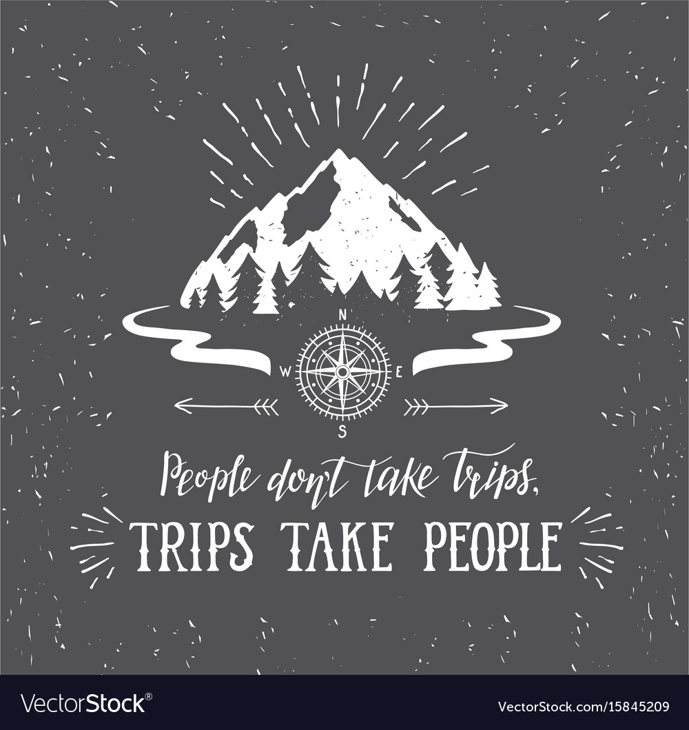 Mountain and forest wanderlust poster