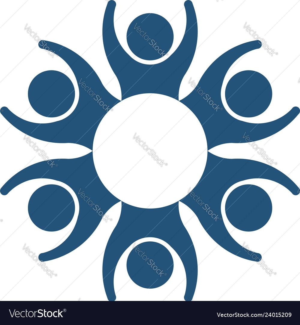 People family together unity logo symbol