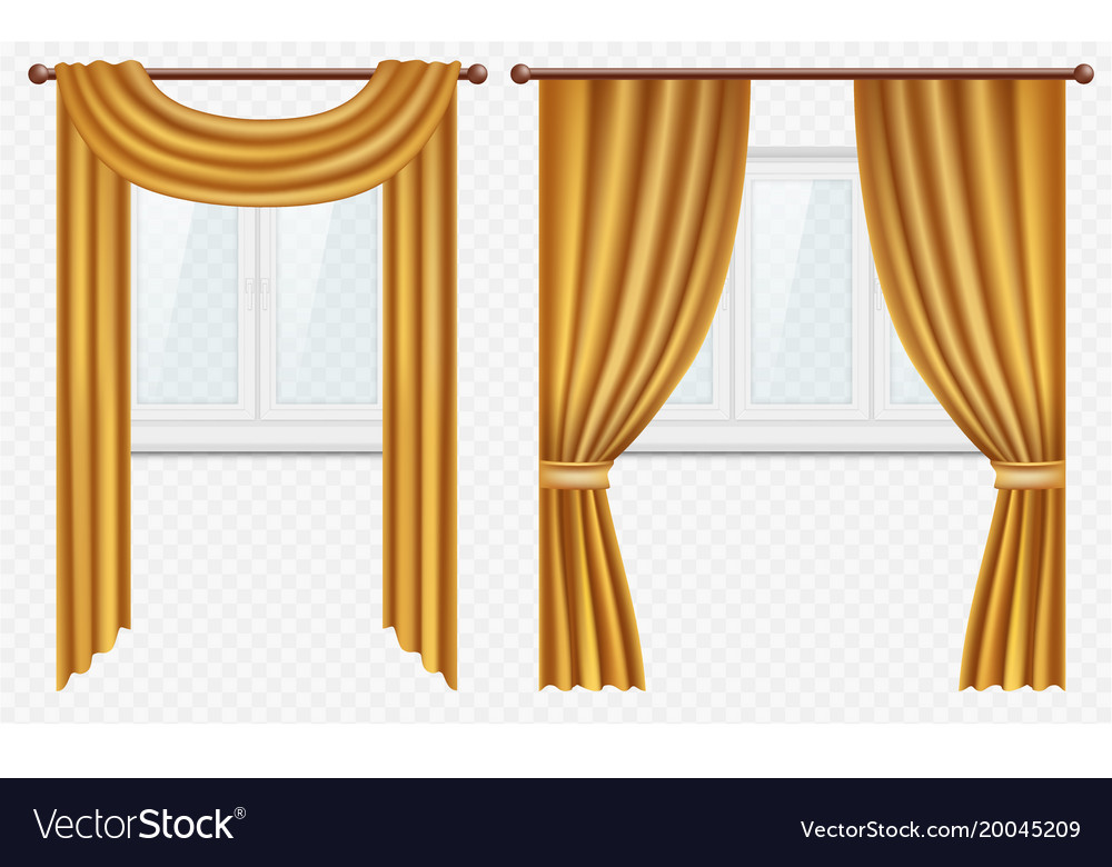 Curtains And D Vector Image