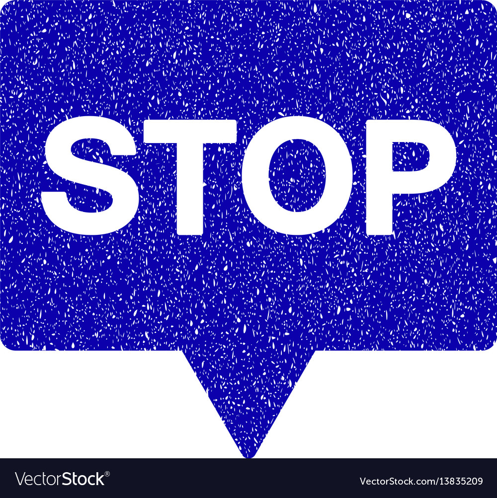 Stop banner icon grunge watermark