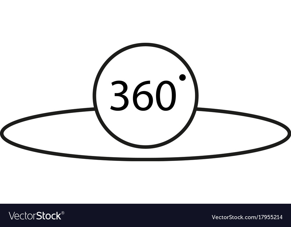 360 degrees icon vector image
