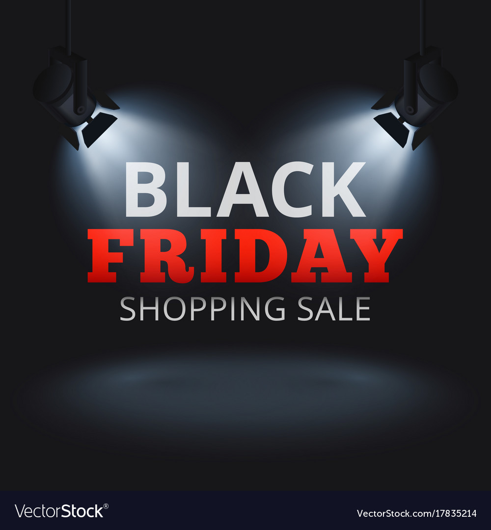 Black friday shopping sale background with