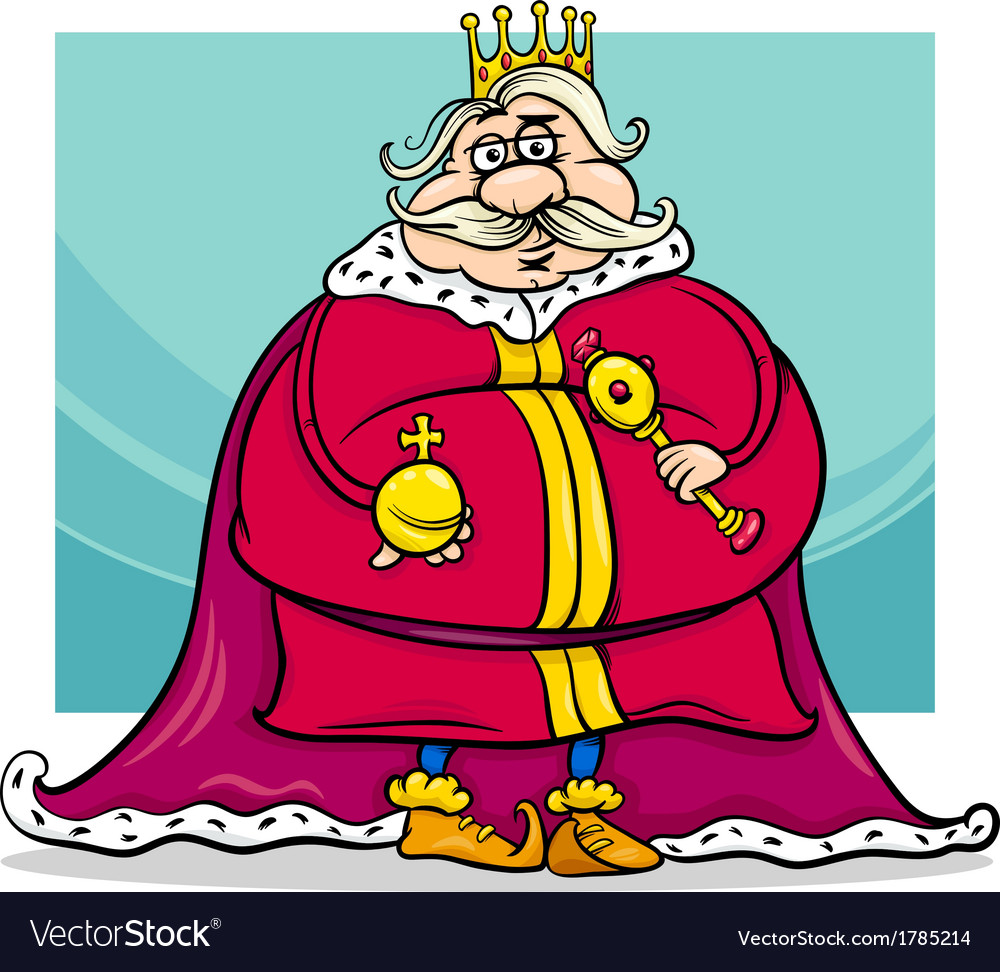 Fat king cartoon fantasy character