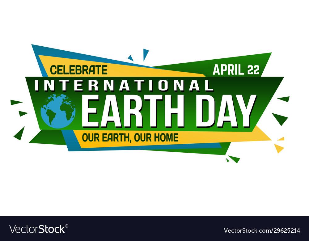 International earth day banner design