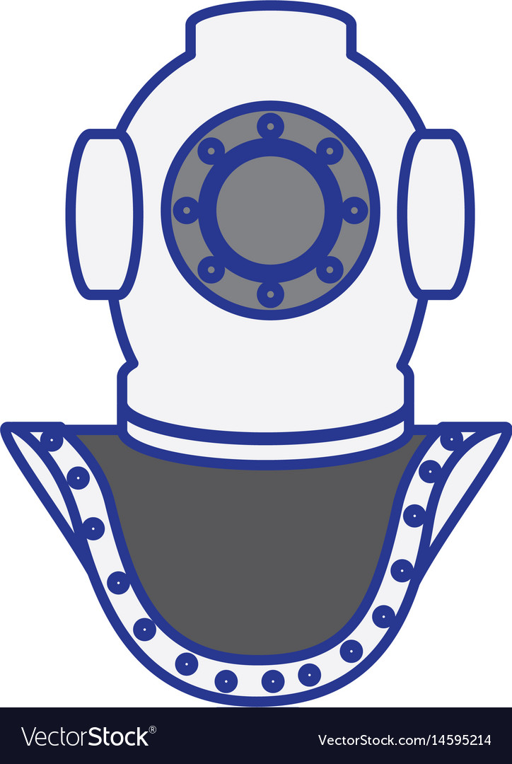 Old scuba mask icon vector image