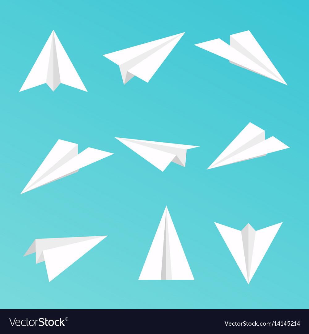 Set a simple paper planes icon