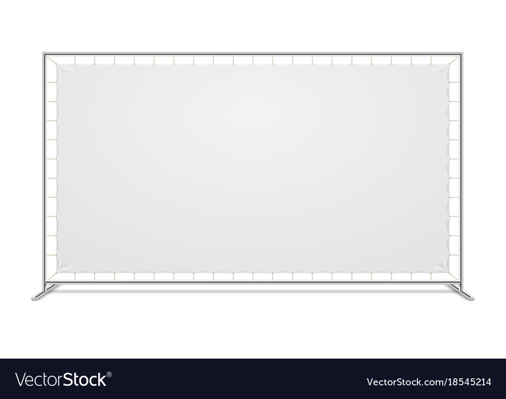 White blank advertising press wall with fabric