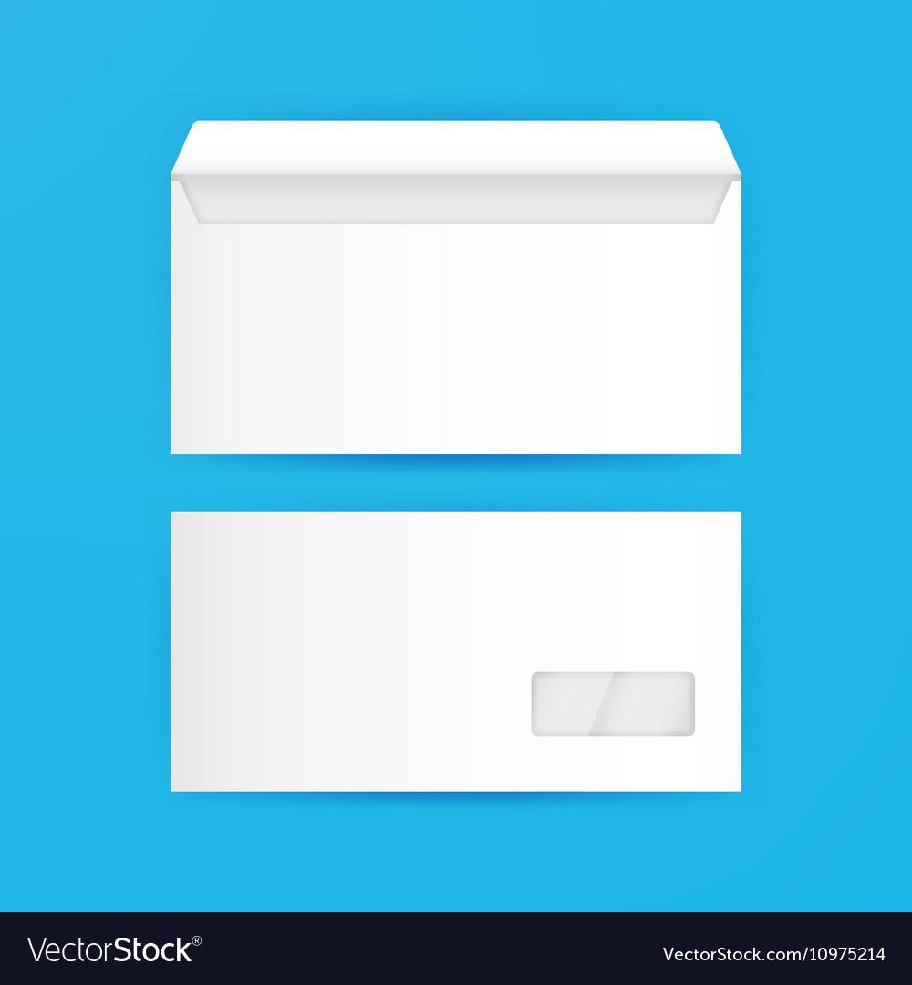 White Envelope Blank Mockup Template Royalty Free Vector