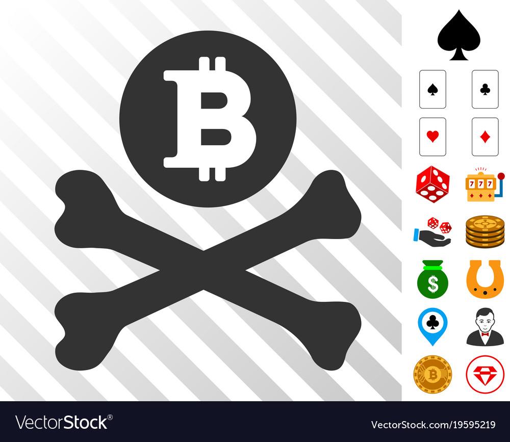 Bitcoin Death Cross Icon With Bonus Royalty Free Vector