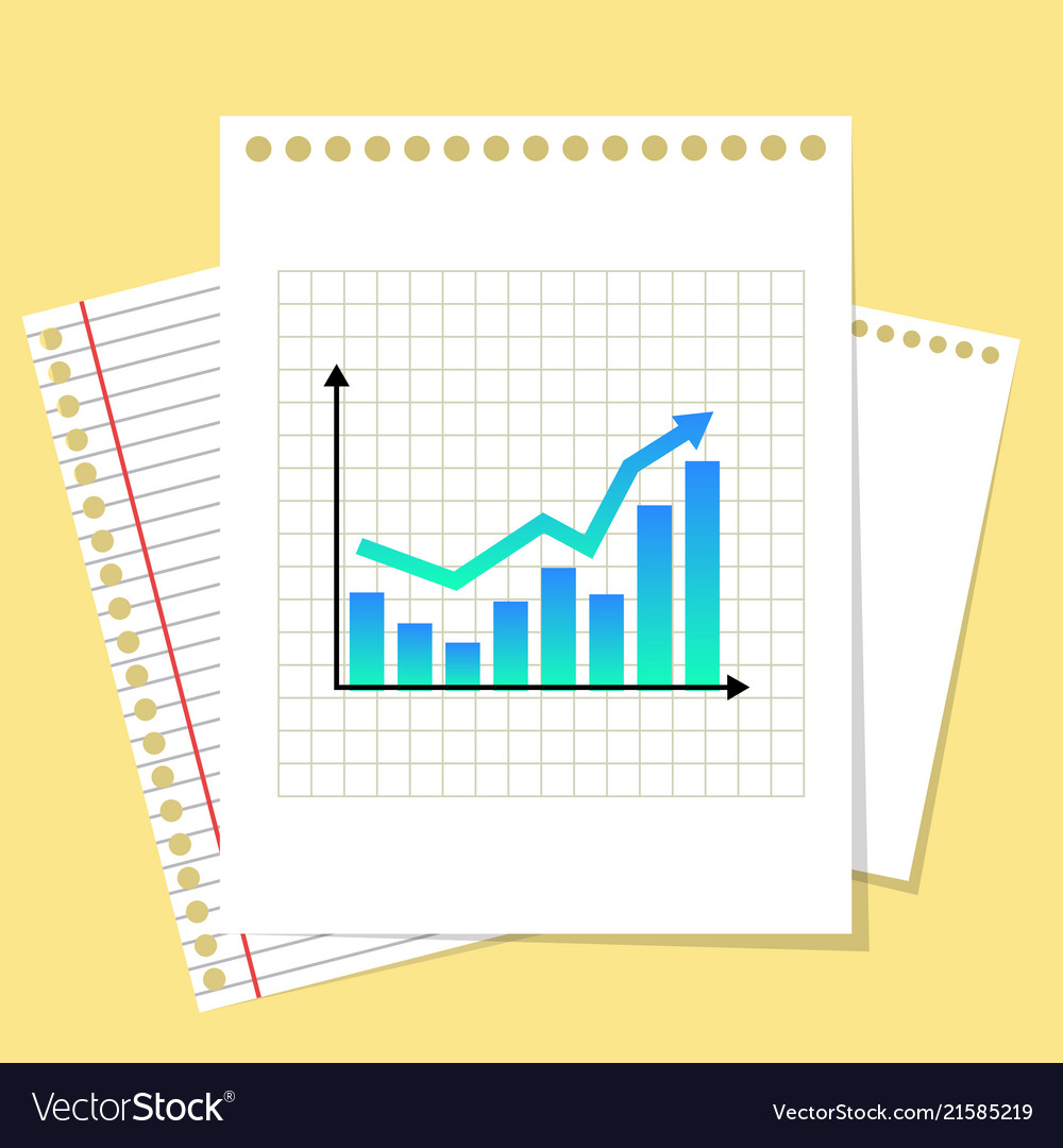 Business isolated graphic paper