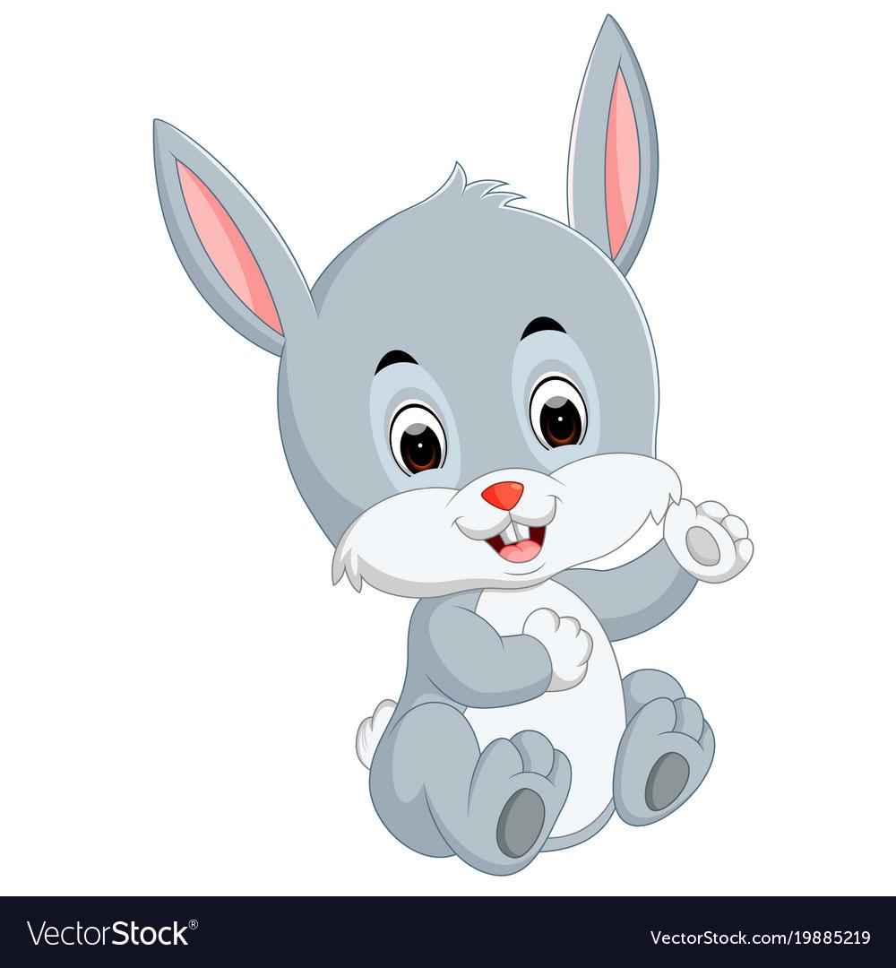 Image of: Newborn Cute Baby Rabbit Cartoon Vector Image Vectorstock Cute Baby Rabbit Cartoon Royalty Free Vector Image