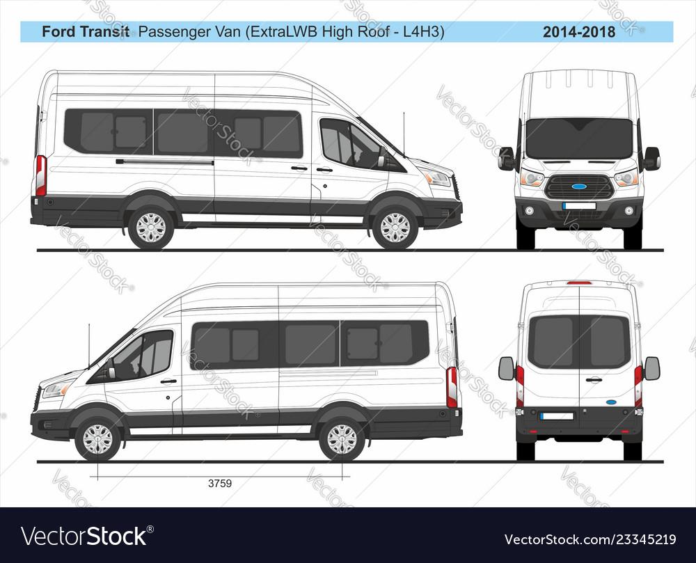 Ford Transit Passenger Van >> Ford Transit Passenger Van L4h3 2014 2018