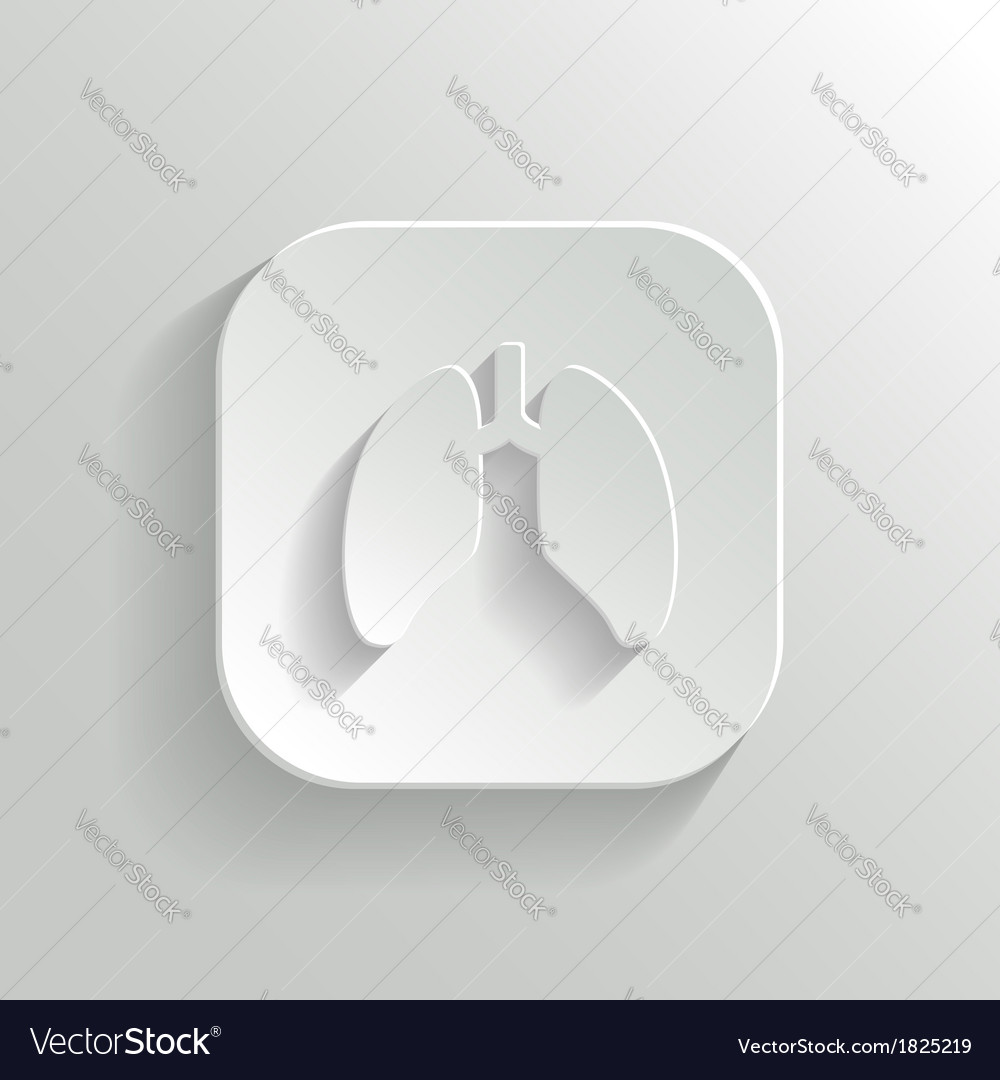 Lungs icon - white app button