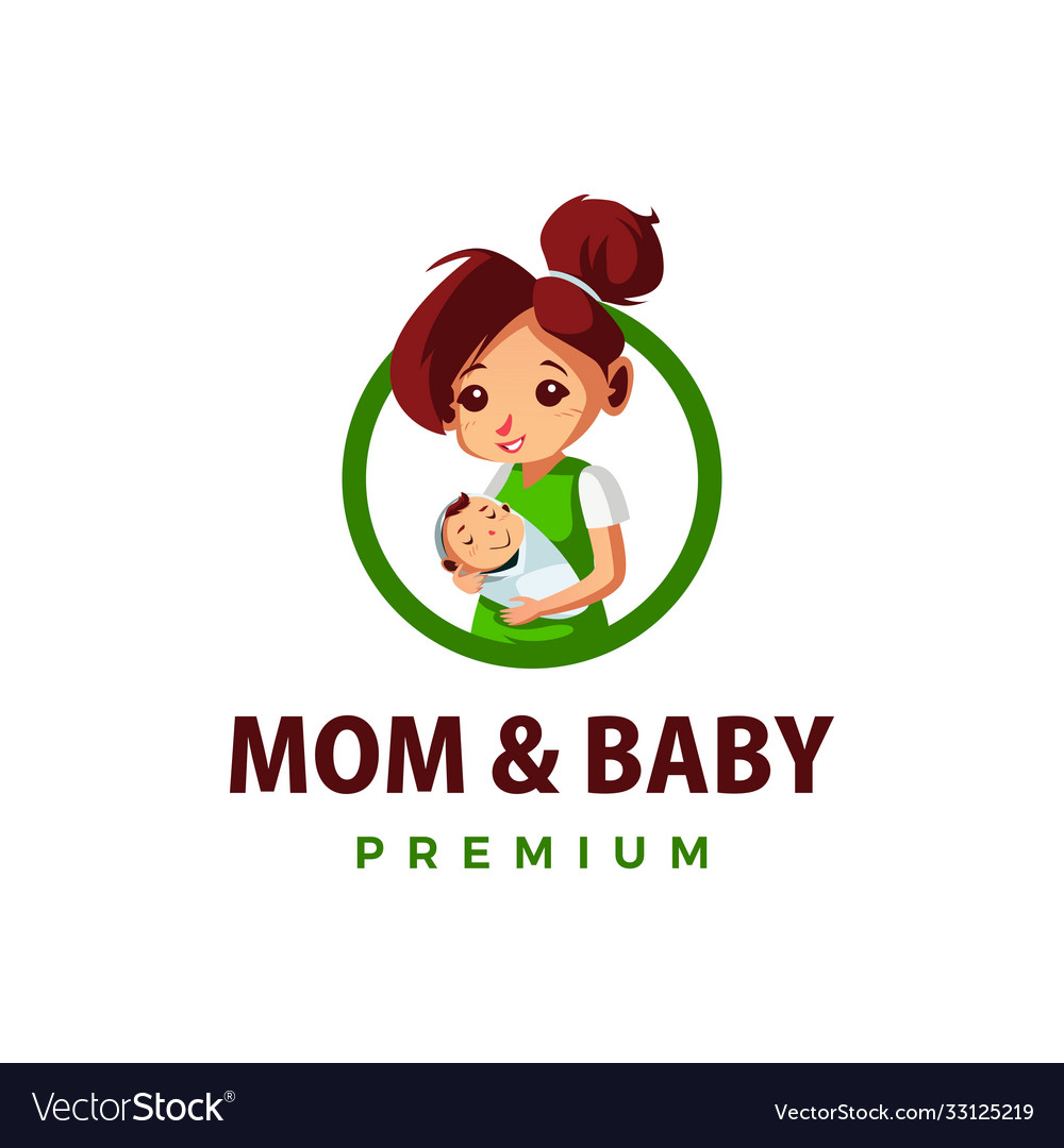 Mom and bathump up mascot character logo icon