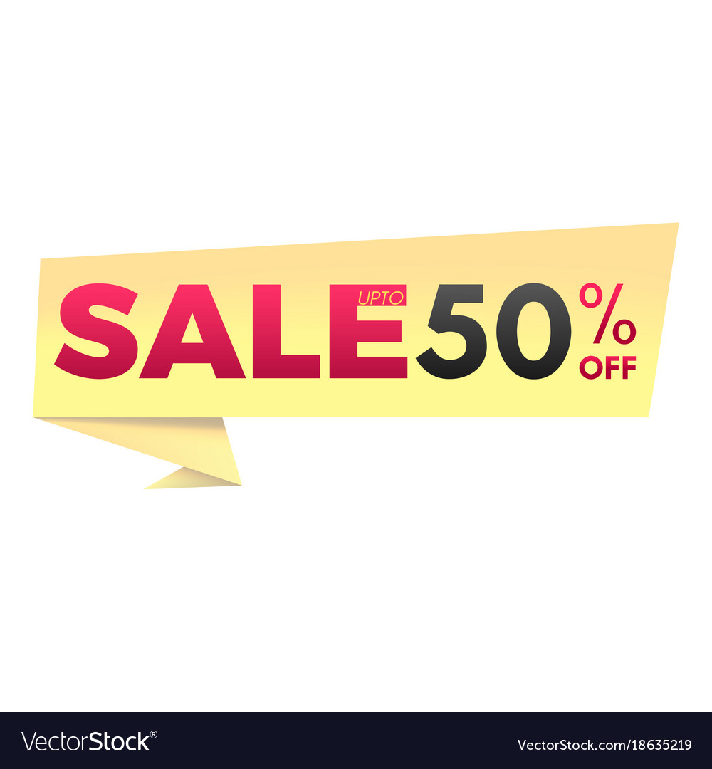 Sale up to 50 off banner
