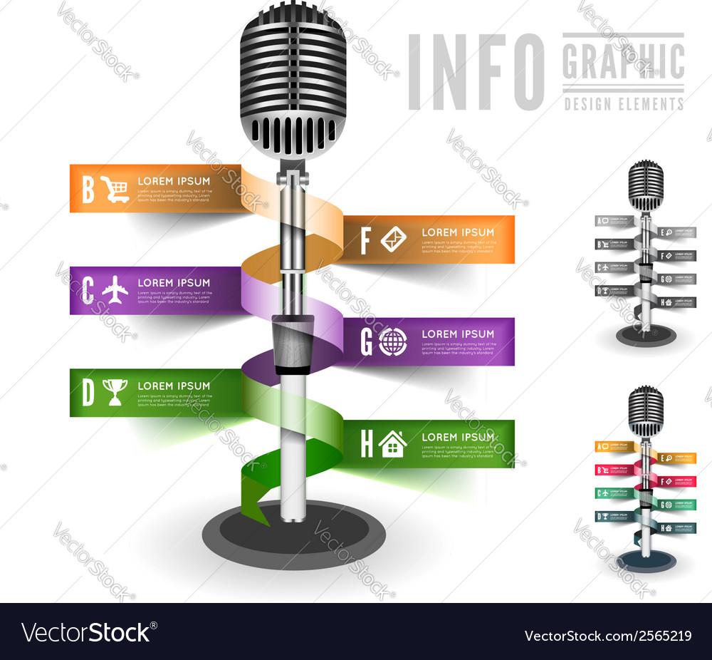 Standing microphone vector image
