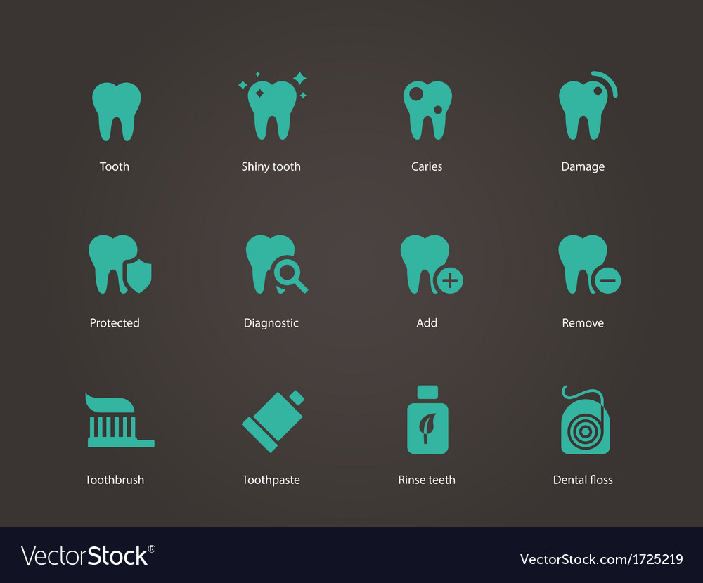 Teeth icons vector image