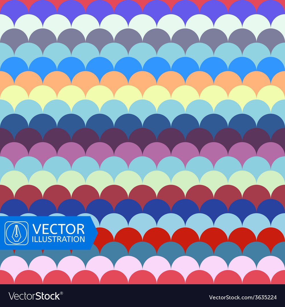 Abstract Colorful Wave Seamless Pattern