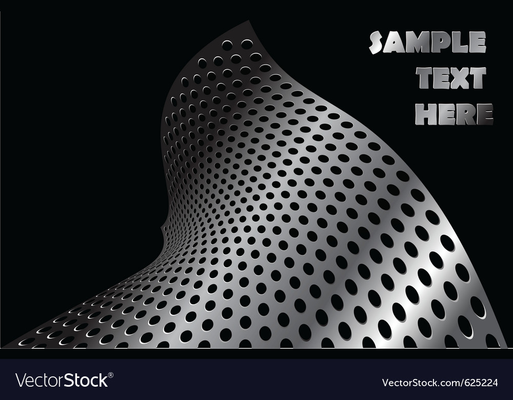 Abstract metal shape