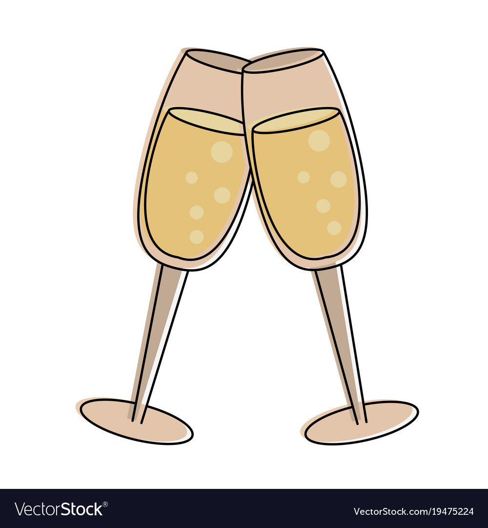 Champagne toasts cups