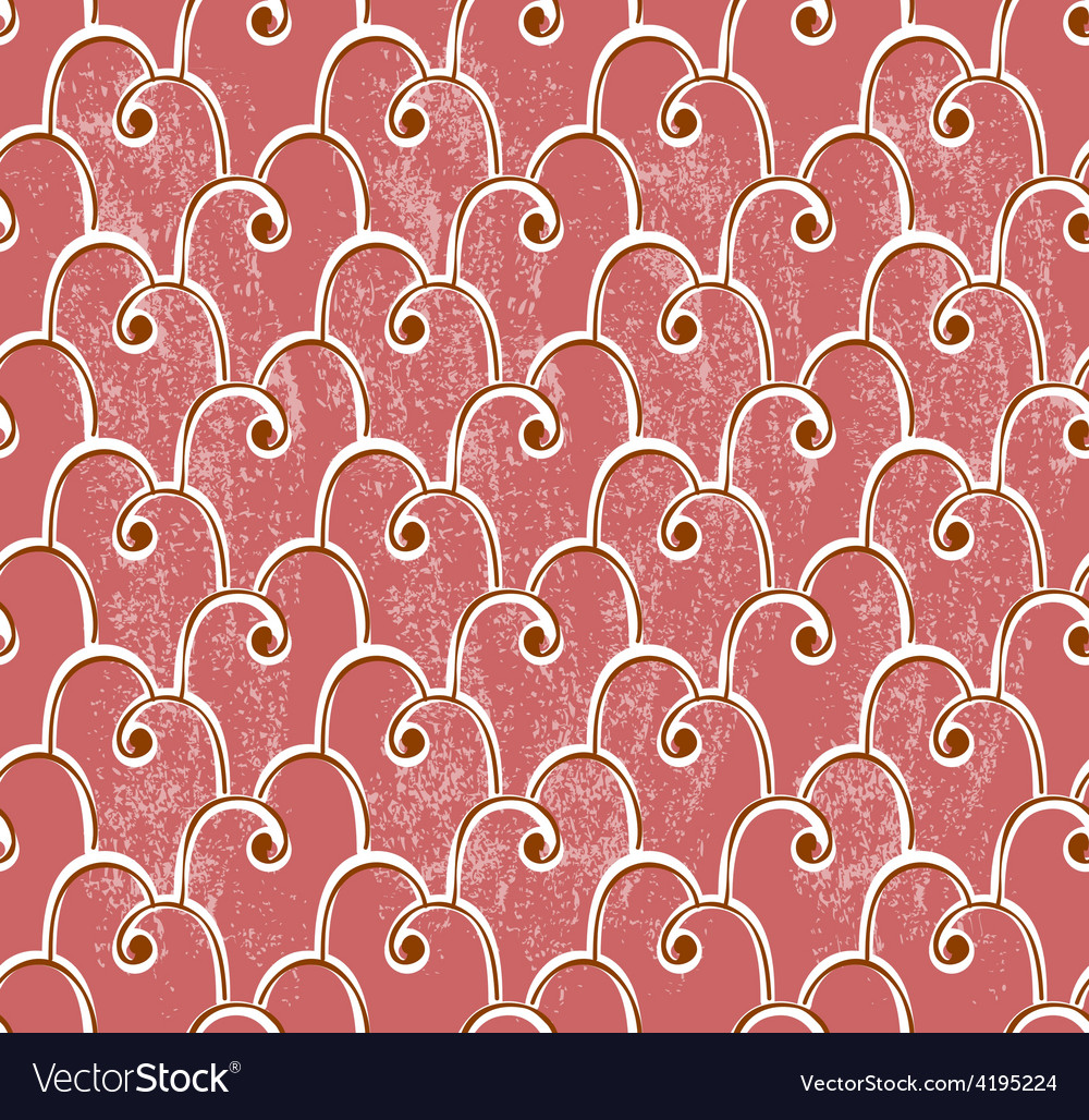 Classical seamless pattern over grungy background vector image