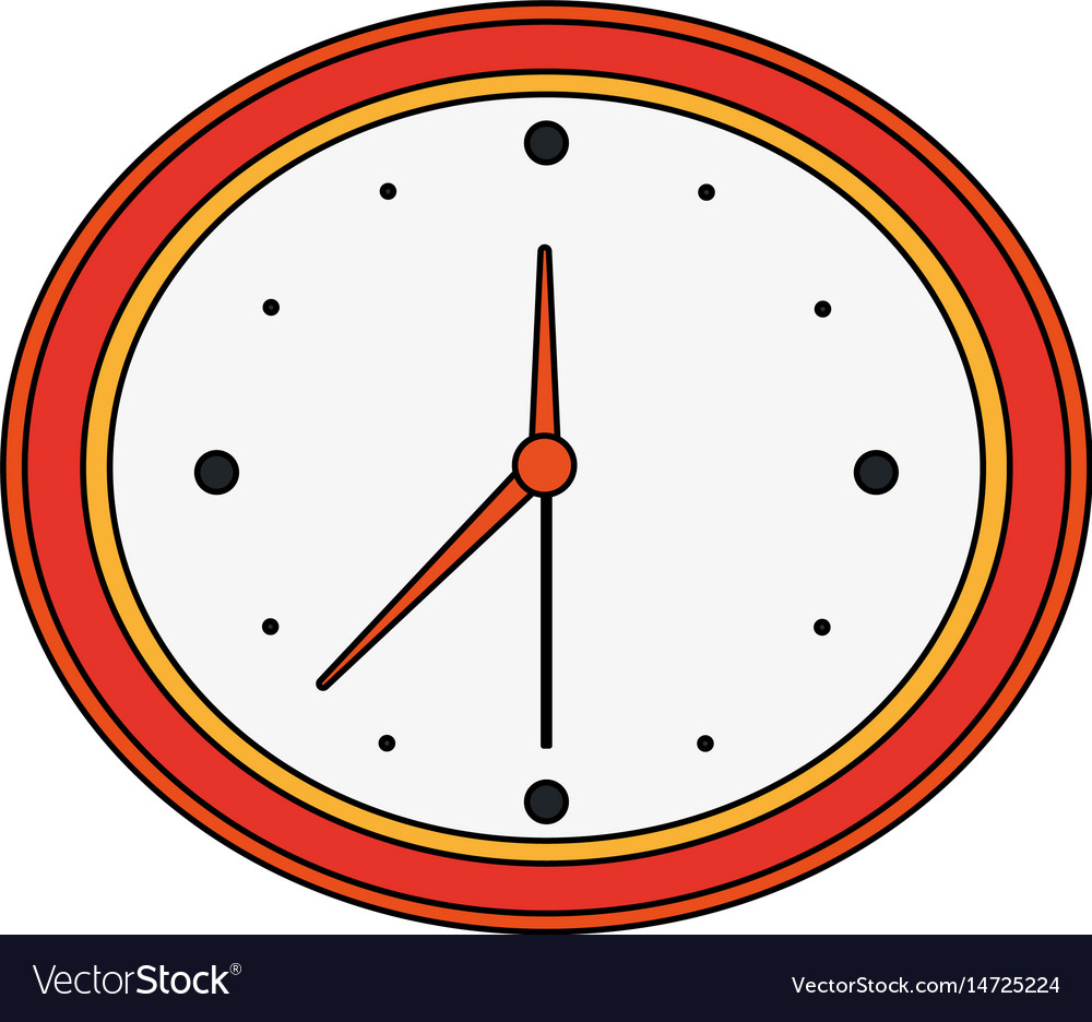 color image cartoon analog wall clock royalty free vector rh vectorstock com clock vector free download clock vector eps free