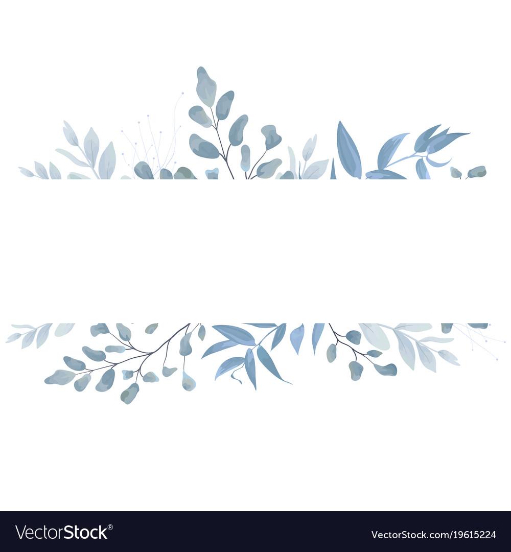 Floral card design with elegant botanical border