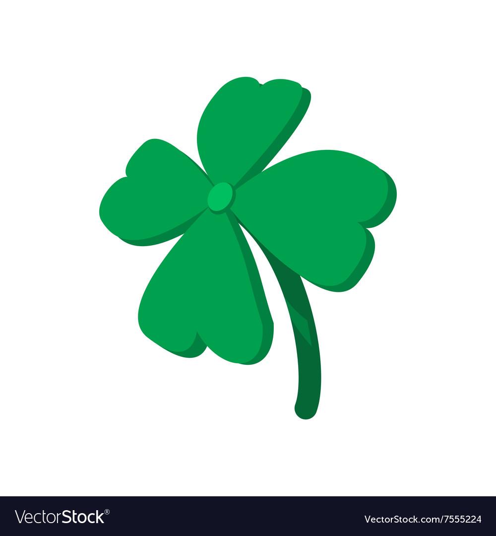 four leaf clover cartoon icon royalty free vector image rh vectorstock com four leaf clover cartoon images four leaf clover cartoon pics