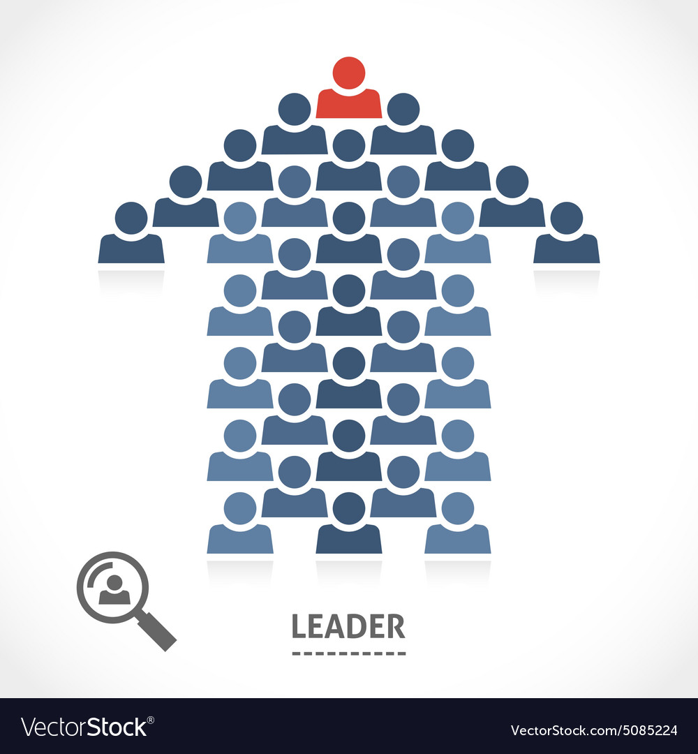 Leader always knows the right direction vector image